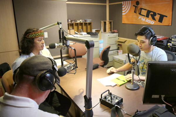 Tony Coolidge and Tobie Openshaw promoted MataTV on an ICRT Radio Show in Taipei.