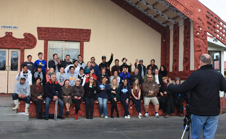 Group photo from the 2012 Wairoa Maori Film Festival
